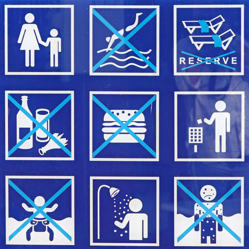 Public pool sign... or Sudoku hallucination?