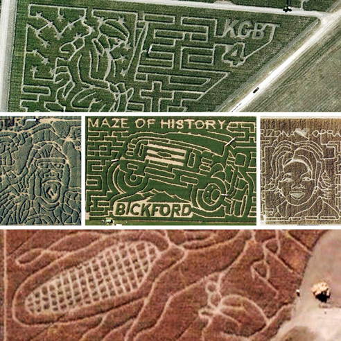 21 mazes that turn earth into picture puzzles