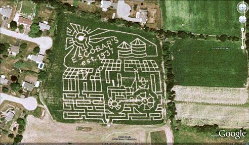 21 mazes: Escobar's estate corn maze