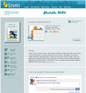 Puzzle Info: New pages offer social interaction for every puzzle