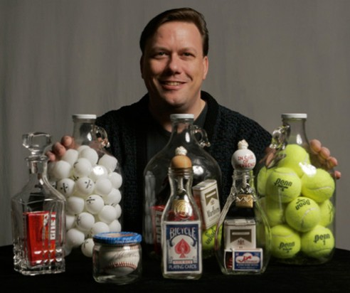 Scanlan with his bottles