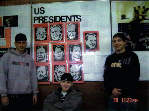 US presidents on the wall