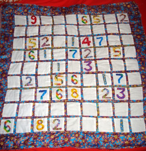 Sudoku quilt by searchingfortreasures