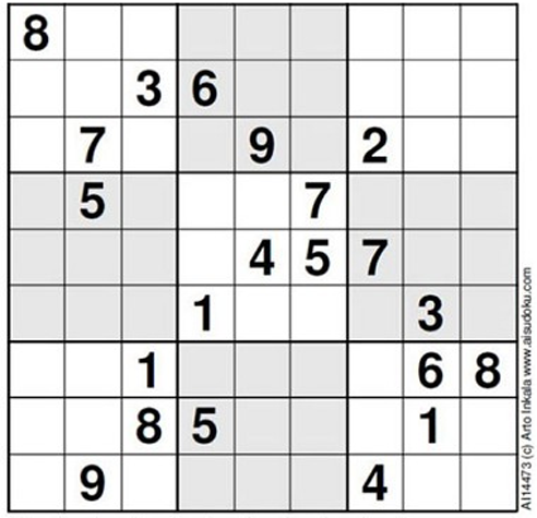 1. The World's Hardest Sudoku