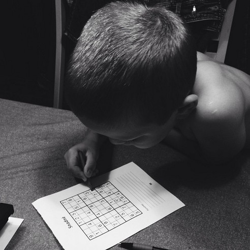 MONOCHROME NEPHEW SUDOKU - 21 Inspiring Sudoku Moments Captured by Instagramers #14
