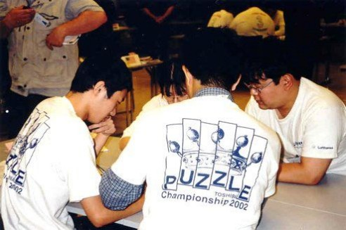 Solving Conceptis' Pic-a-Pix puzzle during WPC 2002 team competition (5)
