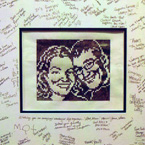 Custom Link-a-Pix with wedding guest signitures