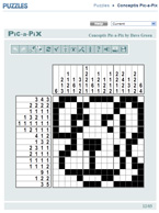 Interactive Pic-a-Pix game distributed by King Features Syndicate