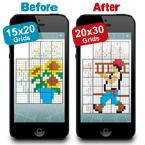 Larger Pic-a-Pix Puzzles Bring More Challenge to Your iPhone and iPad