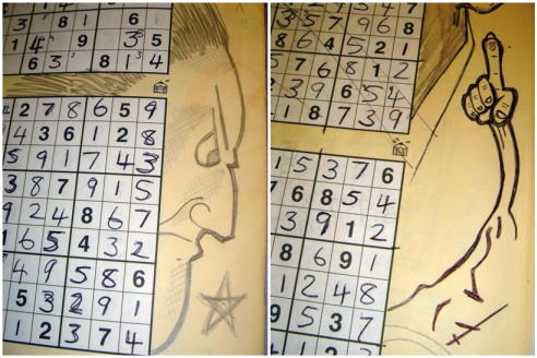 Sudoku doodling at work