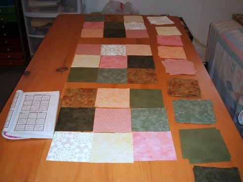 Sudoku quilt top by lavendercat
