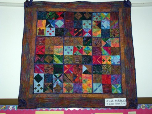 Origami Sudoku quilts by lisaellersf