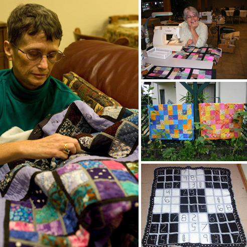 21 quilts and knits inspired by Sudoku puzzles