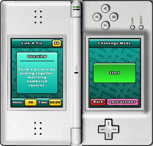 Puzzler World for Nintendo DS/DSi: Link-a-Pix Overview