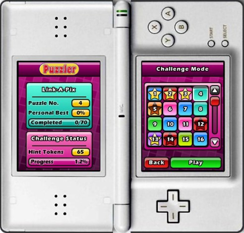 Puzzler World for Nintendo DS/DSi: Select another puzzle