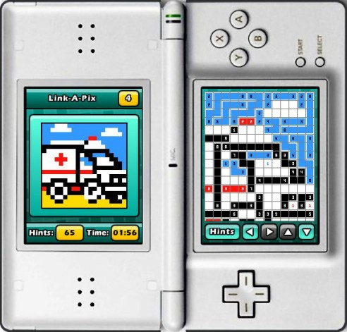 Puzzler World for Nintendo DS/DSi: Sloving Link-a-Pix