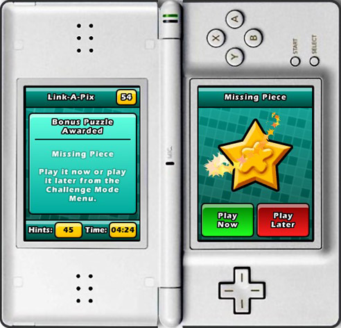 Puzzler World for Nintendo DS/DSi: Bonus puzzle award