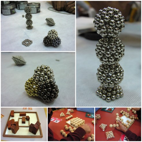 Magnetic sphere structures