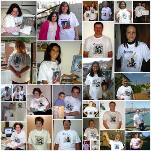 Photos shared by some of the weekly review T-shirt winners, 2002-2010.