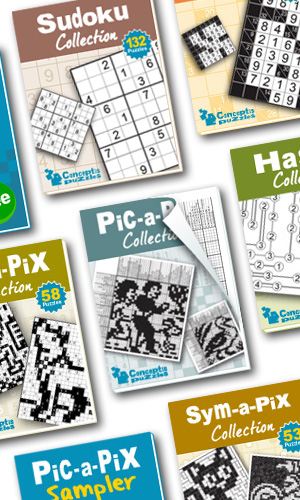 New: PDF puzzle books now available from Conceptis Book Store
