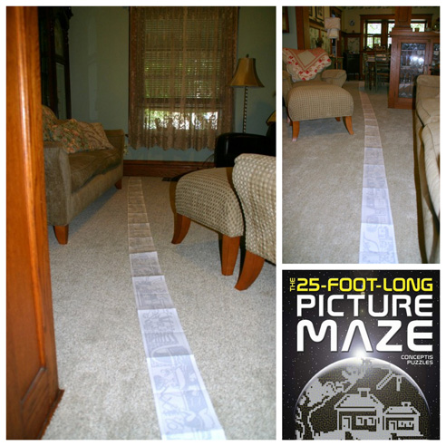 25-foot maze in a 24-foot house: how I solved the world's longest picture maze in 6 months