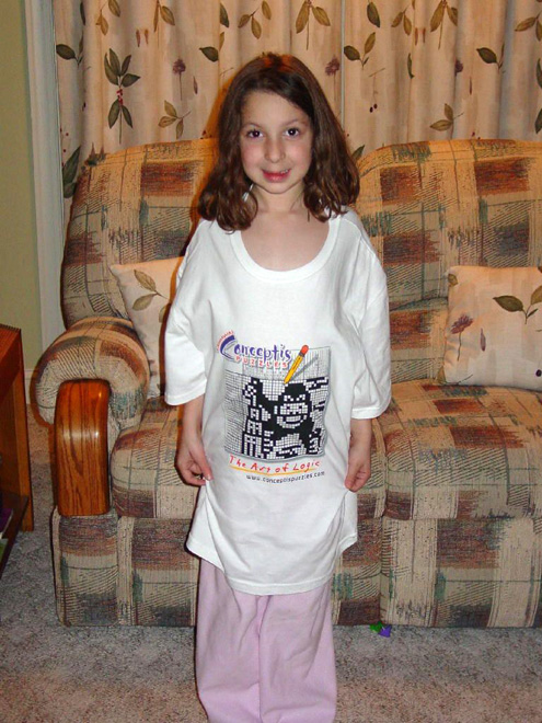 Jenna Caruso with her Cnceptis T-shirt