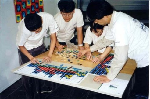 Solving Conceptis' Pic-a-Pix puzzle during WPC 2002 team competition (3)