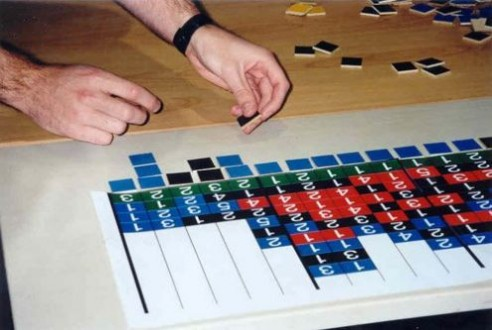 Solving Conceptis' Pic-a-Pix puzzle during WPC 2002 team competition (6)