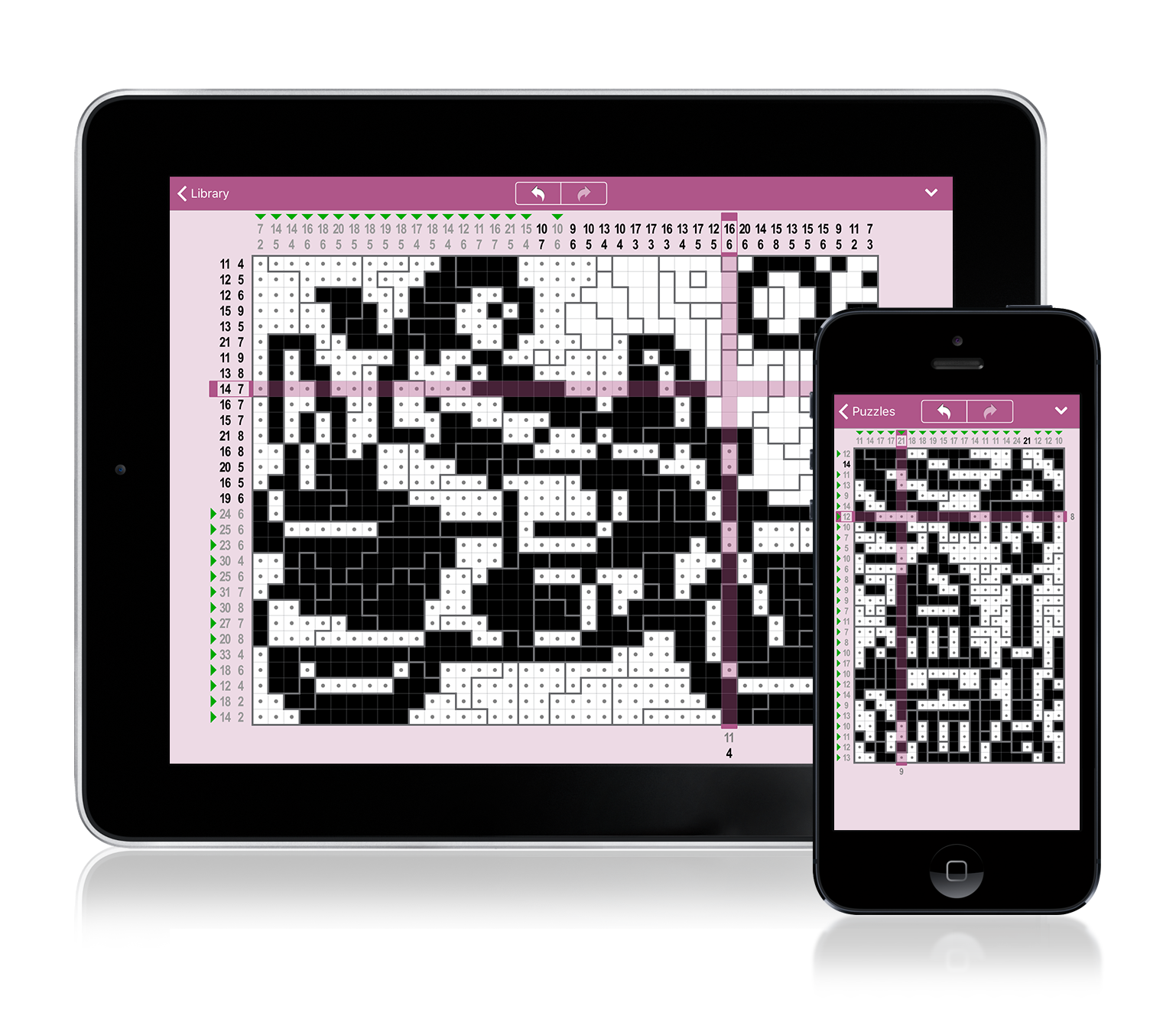 Cross-a-Pix iOS: Solve the Puzzles and Reveal Hidden Pixel-Art Pictures Image
