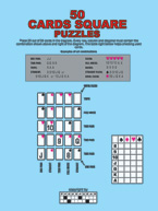 50 Cards Square Puzzles: Cover