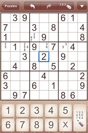 Sudoku for iPad and iPhone (iPhone)