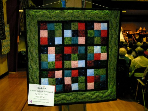 Belleville quilt auction Sudoku by jvc_scout_mom