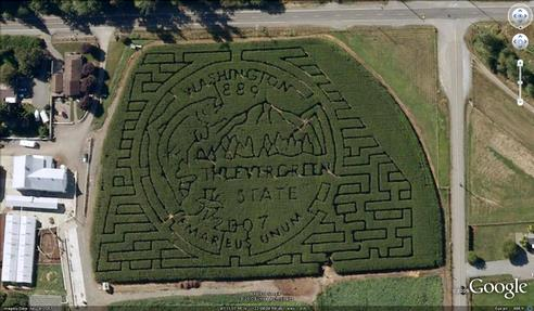 21 mazes: Washington State Quarter