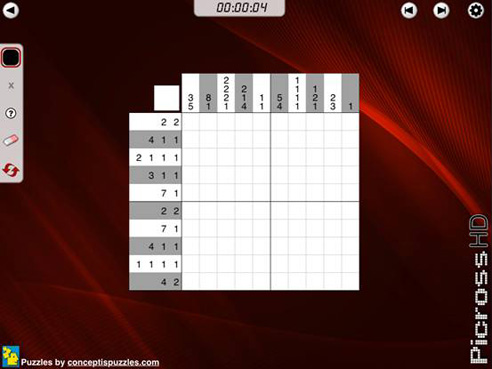 Picross HD: Puzzle grid, unsolved