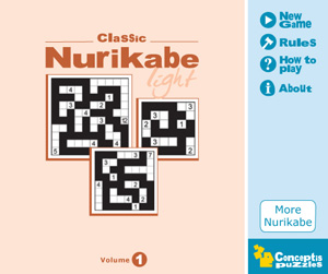 Released: Classic Nurikabe Light Vol 1