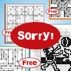Ooops... Free puzzles will vary in difficulty and size, but starting next Friday...