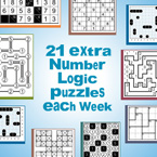 21 extra Number Logic puzzles will be served each week