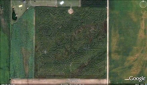 21 mazes: Baseball game scene