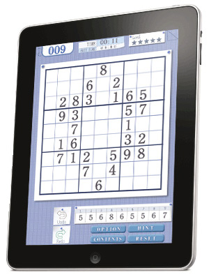 Sudoku Book for iPad features puzzles by Conceptis
