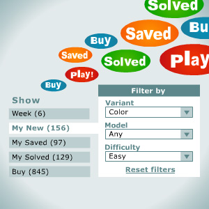 Filters: Now also for New, Saved and Solved puzzles