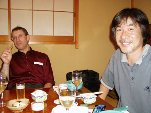 Maki Kaji (right) and Dave Green