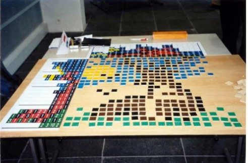 Solving Conceptis' Pic-a-Pix puzzle during WPC 2002 team competition (8)