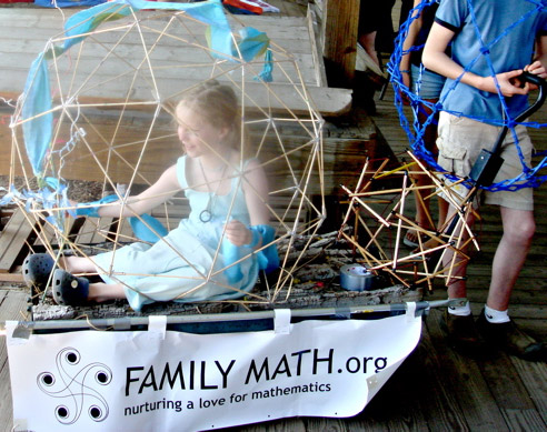 Thea in the Icosahedron  in 2009 Earth Day in Ithaca NY