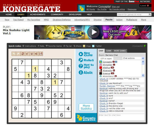 Mix Sudoku Light Vol.1 on Kongregate