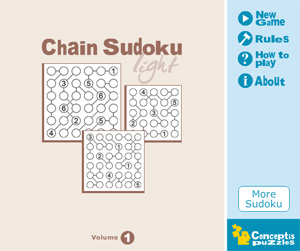 Chain Sudoku Light Vol 1