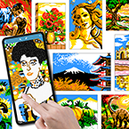 Mega Link-a-Pix, Block-a-Pix and Sym-a-Pix Puzzles Now Playable on iPhones and Smartphones