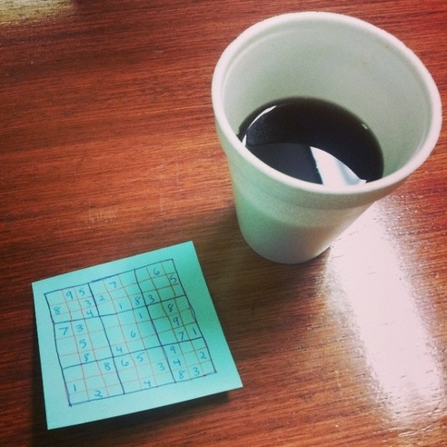 MORNING HANDMADE SUDOKU - 21 Inspiring Sudoku Moments Captured by Instagramers #6
