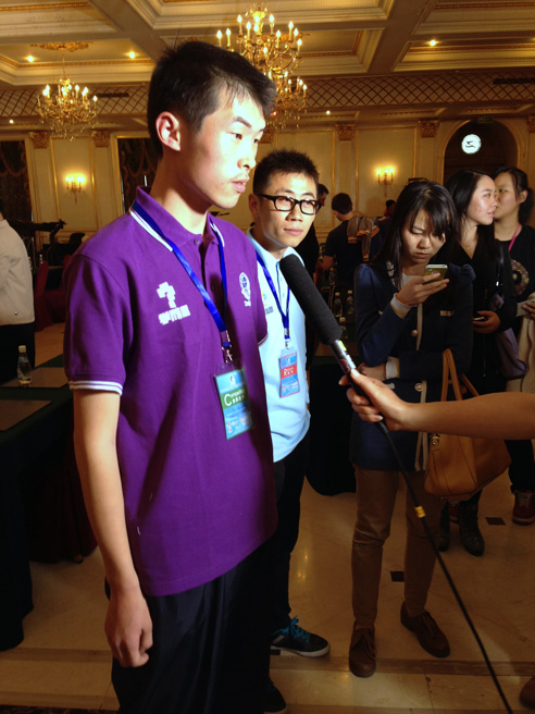 Puzzled in Beijing: Pictures from the 2013 World Sudoku and World Puzzle Championships [The 8th World Sudoku Championship 2013: Jin Ce, China, Champion]