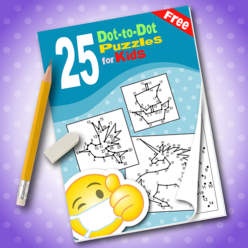 25 Dot-to-Dot Puzzles for Kids