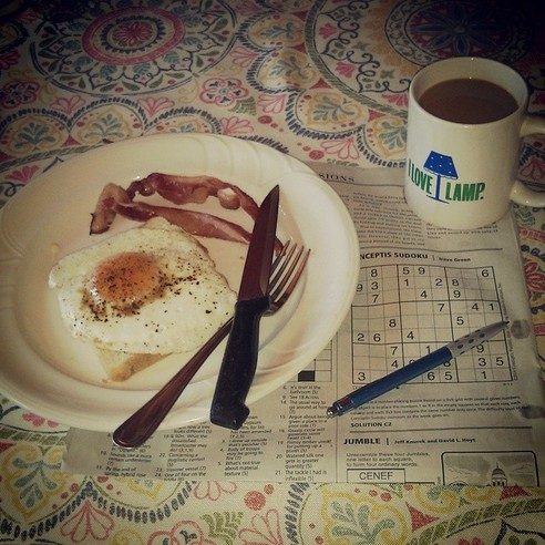 BACON AND EGGS DAVE GREEN SUDOKU - 21 Inspiring Sudoku Moments Captured by Instagramers #7